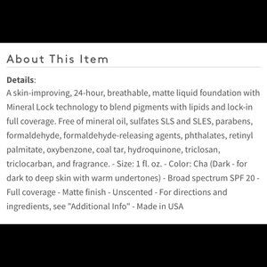 bareMinerals Makeup - Bareminerals liquid foundation makeup chai brown